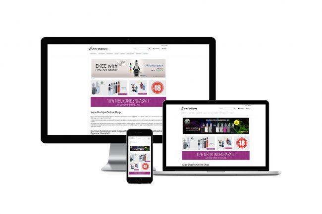 Werbeagentur Elmshorn - Webdesign - Vape Buddy´s Onlineshop
