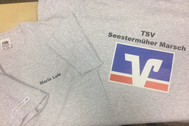 Werbeagentur Elmshorn - Textildruck - TSV Seestermüher Marsch