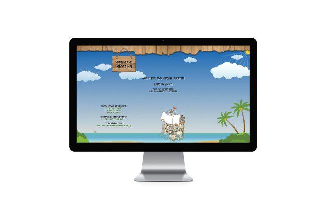 Werbeagentur Elmshorn - Webdesign - Nimmerland Piraten