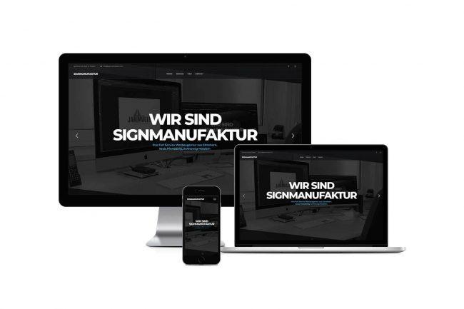 Werbeagentur Elmshorn - Webdesign - signmanufaktur